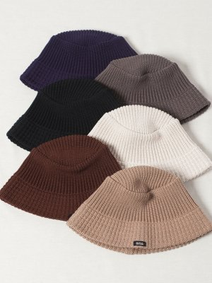 <img class='new_mark_img1' src='https://img.shop-pro.jp/img/new/icons20.gif' style='border:none;display:inline;margin:0px;padding:0px;width:auto;' />20%OFF 【Racal】Knit Bucket Hat Down Brim / ニットバケットハット ダウンブリム -6色展開-