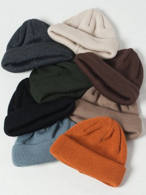 <img class='new_mark_img1' src='https://img.shop-pro.jp/img/new/icons15.gif' style='border:none;display:inline;margin:0px;padding:0px;width:auto;' />【Racal】Wool Blend Roll Knit Cap 20Winter / ウールロールニットキャップ -8色展開-