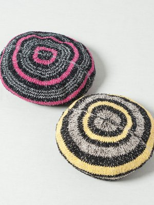 <img class='new_mark_img1' src='https://img.shop-pro.jp/img/new/icons15.gif' style='border:none;display:inline;margin:0px;padding:0px;width:auto;' />【Indietro Association】 Japanese paper border tam beret -2色展開-