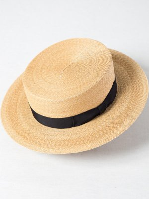 <img class='new_mark_img1' src='https://img.shop-pro.jp/img/new/icons15.gif' style='border:none;display:inline;margin:0px;padding:0px;width:auto;' />【Racal】Braid Boater Hat / ブレイドボーターハット(カンカン帽) -1色展開-
