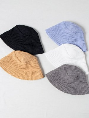 <img class='new_mark_img1' src='https://img.shop-pro.jp/img/new/icons15.gif' style='border:none;display:inline;margin:0px;padding:0px;width:auto;' />【Racal】Paper Blend Knit Bucket Hat / ペーパーブレンドニットバケットハット -5色展開-