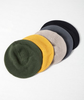 <img class='new_mark_img1' src='https://img.shop-pro.jp/img/new/icons15.gif' style='border:none;display:inline;margin:0px;padding:0px;width:auto;' />【Racal】Rasta Knit Beret (Japanese Paper) / ラスタニットベレー 和紙 -6色展開-