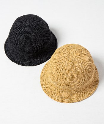 <img class='new_mark_img1' src='https://img.shop-pro.jp/img/new/icons15.gif' style='border:none;display:inline;margin:0px;padding:0px;width:auto;' />【Racal】Paper Fiber Knit Tulip Hat / ペーパー繊維 コマ編み チューリップ ハット -2色展開-