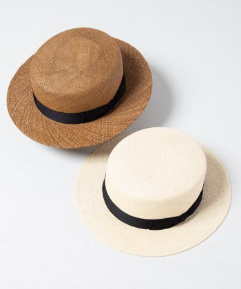 <img class='new_mark_img1' src='https://img.shop-pro.jp/img/new/icons15.gif' style='border:none;display:inline;margin:0px;padding:0px;width:auto;' />【Racal】Panama Boater Hat / パナマ ボーター ハット カンカン帽 -2色展開-