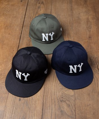 <img class='new_mark_img1' src='https://img.shop-pro.jp/img/new/icons15.gif' style='border:none;display:inline;margin:0px;padding:0px;width:auto;' />【EBBETS FIELD FLANNELS】Ray's Store別注 New York Black Yankees Cap / レイズストア別注ニューヨークブラックヤンキースキャップ -3色展開-