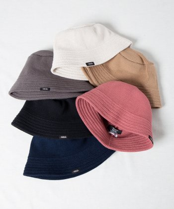 <img class='new_mark_img1' src='https://img.shop-pro.jp/img/new/icons15.gif' style='border:none;display:inline;margin:0px;padding:0px;width:auto;' />【Racal】Cotton Knit Bucket Hat 2 / ダウンブリムコットンニットハット2 セーラーハット -6色展開-