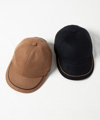 <img class='new_mark_img1' src='https://img.shop-pro.jp/img/new/icons15.gif' style='border:none;display:inline;margin:0px;padding:0px;width:auto;' />【Indietro Association】 Cashmere linebrim cap -2色展開-