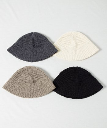 <img class='new_mark_img1' src='https://img.shop-pro.jp/img/new/icons15.gif' style='border:none;display:inline;margin:0px;padding:0px;width:auto;' />【Racal】Boucle Knit Sailor Hat / ブークレニットセーラーハット -4色展開-