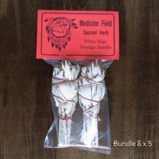 【業務用・卸】ホワイトセージ・スマッジバンドルS(トーチ型) 2本セット×5パック(50%掛)