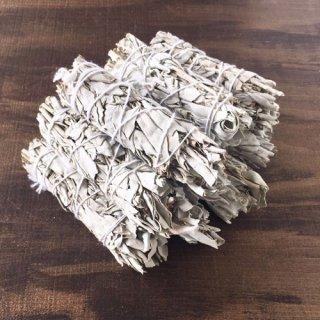 【業務用・卸】ホワイトセージ・スマッジバンドルS(葉巻型)10本セット(45%掛)・30本セット(43%掛)