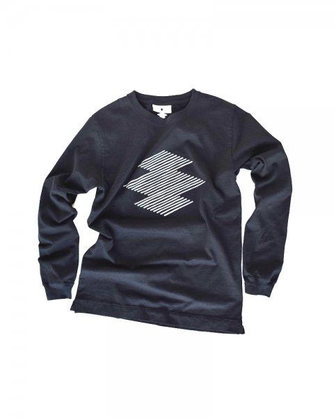 ≪義志≫Tシャツ 型第96 「はす縞松皮菱」 黒