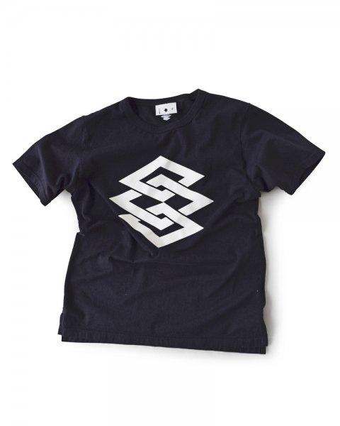 ≪義志≫Tシャツ 型第84 「よろけ菱つなぎ」黒