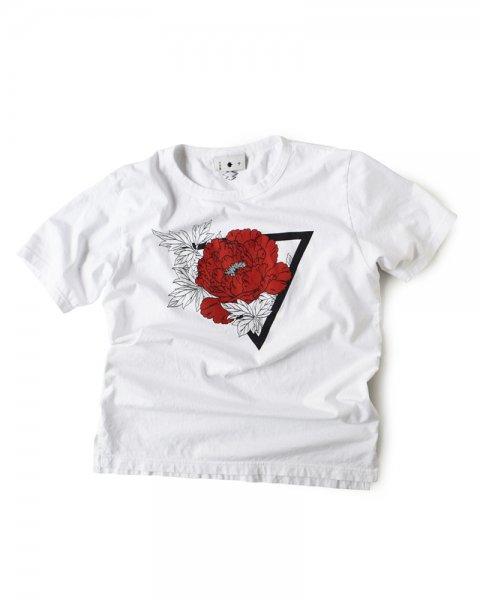 ≪義志≫Tシャツ 型第84 「牡丹」白