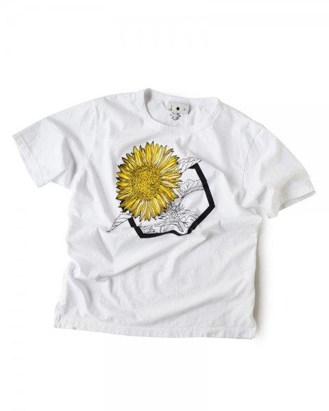 ≪義志≫Tシャツ 型第84 「向日葵」白