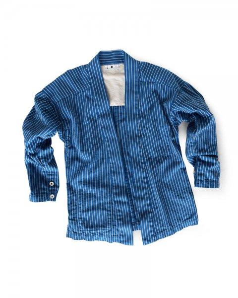 ≪義志≫大和羽織型第4 「縄目縞」 青に白
