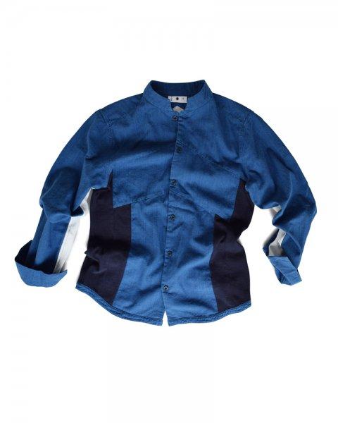 ≪義志≫陣羽織シャツ型第7 藍