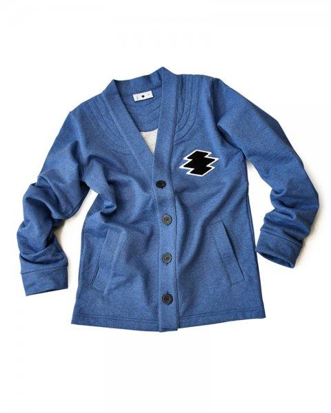 ≪義志≫前開き羽織型第2「松皮菱」 藍