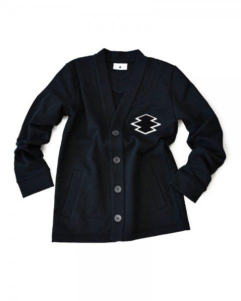 ≪義志≫前開き羽織型第2「松皮菱」 黒