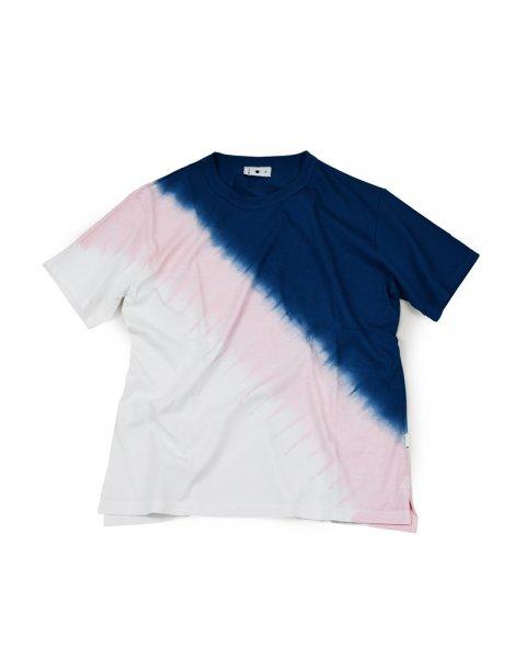 ≪義志≫Tシャツ 型第105 青藍×撫子