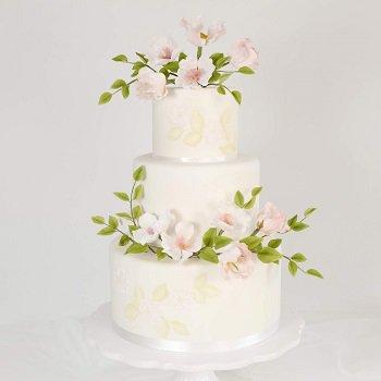 Dog Roses Weddingcake