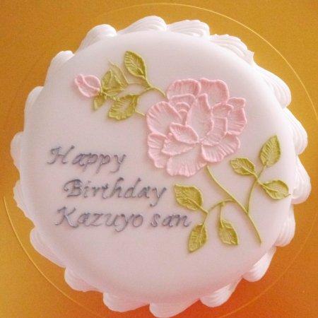 薔薇のアイシングケーキ