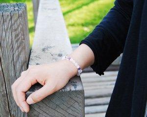 ローズクォーツ×アメジスト×水晶 天然石ブレスレット 〜真実の愛を育む3種のパワーストーン 詳細画像3
