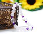 ローズクォーツ×アメジスト×水晶 天然石ブレスレット 〜真実の愛を育む3種のパワーストーン