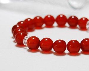 カーネリアン 天然石パワーストーンブレスレット 〜新たな目標へとあなたを誘う真紅の輝き