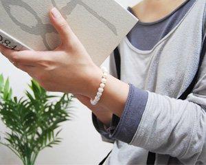 パール 天然石パワーストーンブレスレット 〜優雅な気品が漂う女性の象徴 詳細画像4