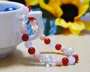 ピンクオパール×ローズクォーツ×カーネリアン 天然石ブレスレット 〜愛を引き寄せるラブブレス