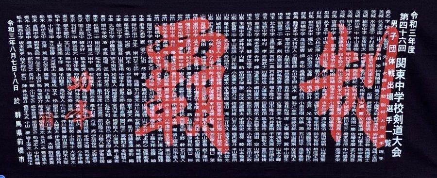 2021年関東中学校剣道大会 男子団体出場選手名入り記念手拭い!!<img class='new_mark_img2' src='https://img.shop-pro.jp/img/new/icons14.gif' style='border:none;display:inline;margin:0px;padding:0px;width:auto;' />写真02