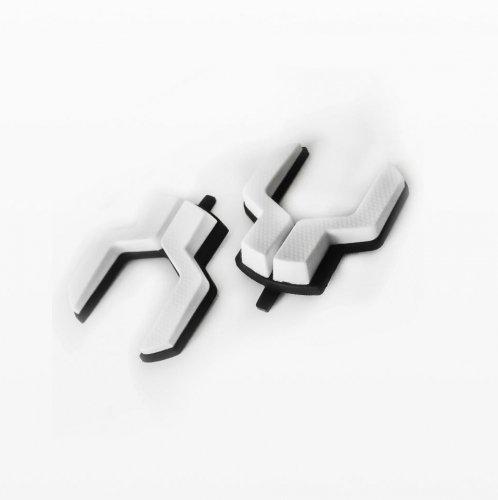 【suplest/スープレスト】ロードシューズ用ヒールスタッド 白色(左右ペア)Mサイズ(42-44)