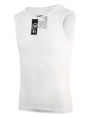 【ASSOS/アソス】SKINFOIL NS SUMMER BASE LAYER WHITE(夏用 袖無し)