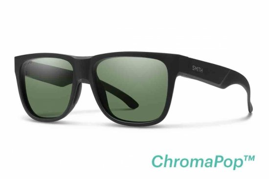 【SMITH/スミス】LOWDOWN 2 Matte Black / ChromaPop Polarized Gray Green(偏光)
