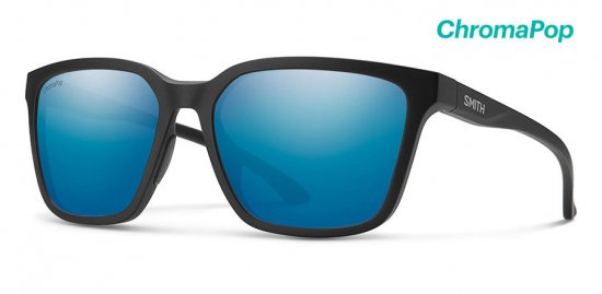 【SMITH/スミス】SHOUTOUT Matte Black / ChromaPop Polarized Blue Mirror(偏光)