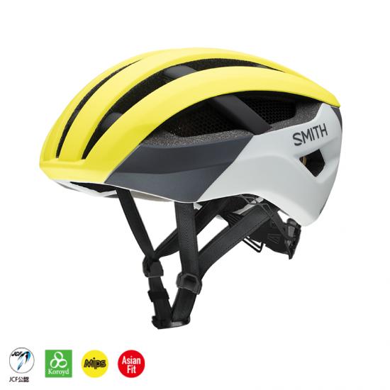 【SMITH / スミス】ヘルメット NETWORK  MIPS Matte Neon Yellow Viz