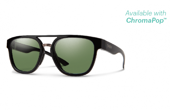 【SMITH/スミス】AGENCY/エージェンシー BLACK ChromaPop Polarized Gray Green(偏光)