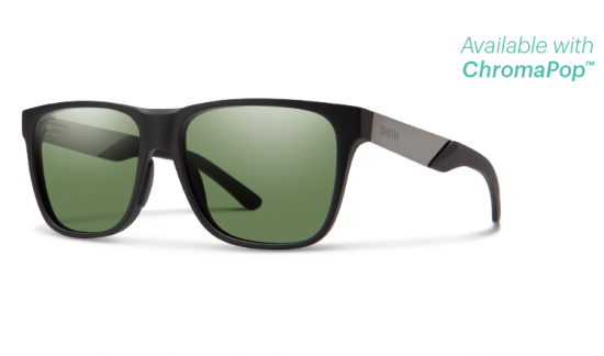 【SMITH/スミス】LOWDOWN STEEL/ローダウン スティール MATTE BLACK RUTHENIUM(ルテニウム) ChromaPop Polarized Gray Green(偏光)