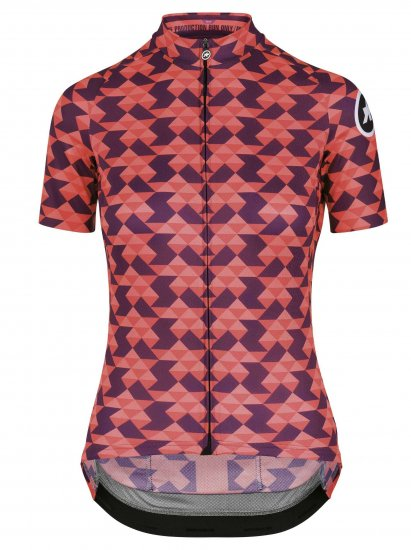 【ASSOS/アソス】WOMEN'S  DIAMOND CRAZY  SS JERSEY  SOLITAIRE RED(女性用 ピンク×パープル)LIMITED EDITION