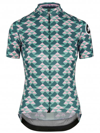 【ASSOS/アソス】WOMEN'S  DIAMOND CRAZY  SS JERSEY  BRILLIANT GREEN(女性用 グリーン×ピンク)LIMITED EDITION