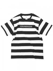 ABRACADABRA striped Tee  (black×white)