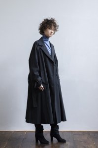 【20ss受注商品】コットンナイロンテントシルエットダブルコート