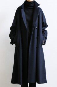 【受注商品】Wool Beaver Double Flare Long Coat