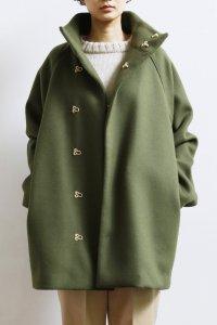 Wool Beaver Spring Hook Half Coat