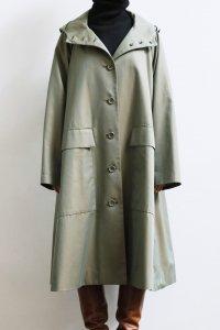 【受付終了】50/2 Cotton Gabardine Hood Flare Long Coat