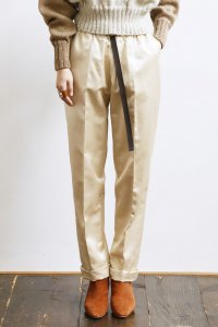 Turn Up Easy Pants (satin beige)