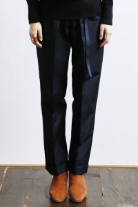 Turn Up Easy Pants (gabardine navy)