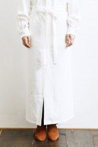 【定番・受注商品】Hemp Hnad Stitch Long Apron Skirt