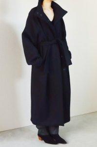 【受注商品】Wool Beaver Stand Collar Long Coat
