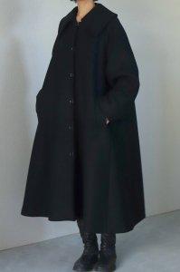 【受注商品】Wool Double Melton Big Collar Coat